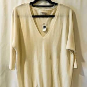NWT GAP Wool Blend V-Neck Sweater.  Size L